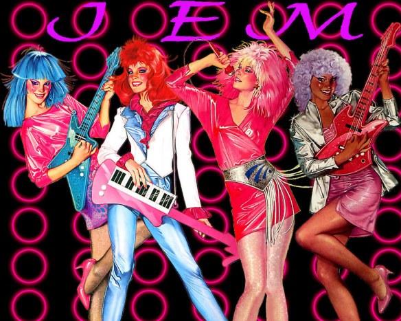de gauche à droite : Aja, Kimber, Jem/Jerrica et Shana